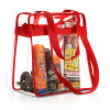 Compliant Clear Stadium Security Zippered Shoulder PVC Bag Travel & Gym Tote Bag