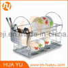 18/0 Stainless Steel and Wire Chrome Plated Two Tier Dish Rack