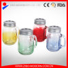 Wholesale Glass Color Mason Jar with Handle