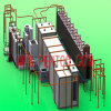 Hot Sell Electrostatic Powder Coating Line for Aluminum Profile