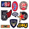 Custom Applique Sequin Embroidered Embroidery Patches, Chenille Iron-on Patch, Sew-on Fabric Patch for Garment