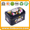 Arch Shape Metal Can Food Packaging Box Favorite English Tea Tin with Embossing and Lock for Gifts