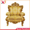 Antique Gold High Back King Throne Chair for Wedding Decoration