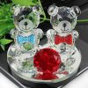 Wedding or Baby Gifts Cute Crystal Bear Crystal Perfume Seat Bottle Liquid Air Freshener for Cars Decoration
