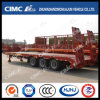 Cimc Huajun 3axle Lowbed Trailer with Cover on Tire