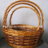 Eco-Friendly Customized High Quality Willow Fruit Basket with Long Handle