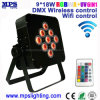 DMX Wireless /Wift/IR Control 9X18W RGBWA+UV LED PAR Can Light with Battery