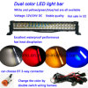 Hot Sale in US 12V/24V 21.5inch White&Yellow Dual Color LED Light Bar