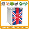 Hinged Square English Tea Tin Can for Metal Tea Caddy
