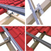 Galvanized Stainless Steel Tile Roof Solar Mounting Bracket