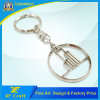Manufacurer Custom Company Logo Metal Key Chain Tags with Key Ring (XF-KC07)