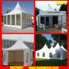 Clear Tent Transparent High Peak Pagoda Tent for 60 People Seater Guest