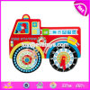 New Design Kids Educational Toys Truck Shape Wooden Toddler Advent Calendar W09f003