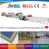 Jwell-PVC Plastic Homogeneous Heart Flooring Leather Recycling Agricultural Making Extrusion Machine Used in Airport|Train|House Indoor Ground Decoration