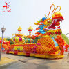 Chinese Traditional Dragon Boat Shape Festival Lanterns Show for Holiday Christmas Decoration