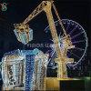 Outdoor LED 3D Gift Box Ferris Wheel Motif Light for Theme Park