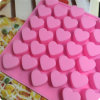 55 Silicone Heart Pop Cake Stick Mould, Chocolate Mould