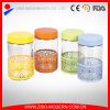 Stainless Steel Covered Glass Tea Coffee Sugar Jars