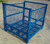 Foldable & Stackable Heavy Duty Wire Mesh Container for Warehouse Storage