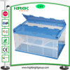 Transparent Plastic Turnover Moving Box Container with Cover