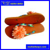 Fashion Beach PE Slippers with Flower Decoration Strap