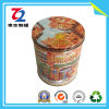 Storage Box, Round Metal Tin Can for Tea Candy