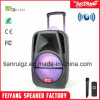 Trolley Professional Rechargeable Bluetooth Speaker with Ball Light La-F19m