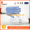 Ddsafety 2017 Natural Cotton Polyester String Knit with 4thread Gloves