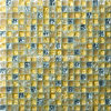 Silver and Gold Cracked Tile Glass Mosaic (HGM347)