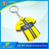 Promotion Custom Fashion 3D Soft PVC Rubber T-Shirt Keychain for Advertising Souvenir Gifts (XF-KC-P31)