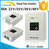 MPPT 60A 48V/36V24V12V RS485-Communication Solar Charge Controller Scf-60A