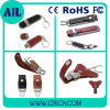 Free Sample Leather USB Flash Drive with Real Capacity