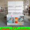 Custom Green Modular Portable Booth Exhibition Stand Display Stand with Slatwall Panels and Hangers