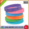 Colorful Cheap Silicone Bracelet with Debossed (TH-6152)