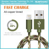 New Arrival Nylon Braided Data Charging Cable for iPhone 5/6/7
