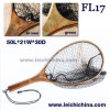 Small burl wood hand fly fishing trout net