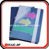 Custom 4c PU Cover Square Lined Notebook A5 with Flat Elastic Band