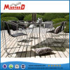 New Design Modern Style Textile Fabric Glass Table Top Table Set