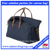 Classic Large Canvas and Leather Travel Handbag for Man or Woman