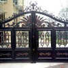 Automatic Wrought Forged Swing Sliding Fence Driveway Iron Gate High Good Quality