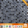 Plated Glass and Black Color Stone Mosaic (M815002)