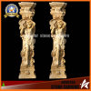 Beige Marble Figure Column Granite Roman Column for Decoration (NS-11C09)