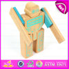 Hot Sale Non Toxic Wooden Robot Toy for Kids, DIY Children Wooden Robot Toy with Very Cheap Price W03b043