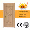 Residential Cheap MDF Internal PVC Wooden Door for Sale (SC-P122)