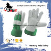 Green Industrial Safety Cow Split Leather Work Glove