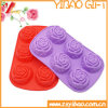 High Quality Flower Shape Silicone Ice Cube Tray Mold (YB-AB-020)