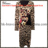 Top Fashion Ladies Knitted Printing Long Dress (F6B)