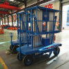 Double Mast Mobile Hydraulic Aluminum Alloy Lift Table