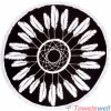 Printed Microfiber Round Beach Towel (Dreamcatcher)
