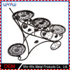 Metal Craft Home Decoration Garden Furniture Round 2 Tier Metal Display Flower Stand